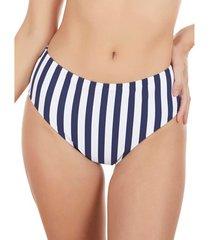 bikini selmark hoge taille zwempakkousen rayas marineras blauw mare