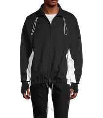 valentino men's colorblock toggle jacket - nero - size xs