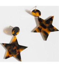 roan tortoise star drop earrings - tortoise