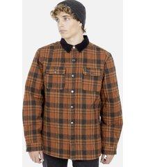 camisa m/l café hombre rusty