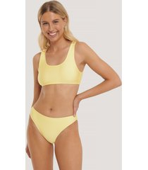 na-kd swimwear sporty bikini briefs - yellow