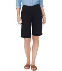 women's nydj roll cuff pull-on denim shorts