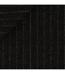 pantaloni da uomo su misura, reda, twill grigio scuro rigato 130's, quattro stagioni | lanieri