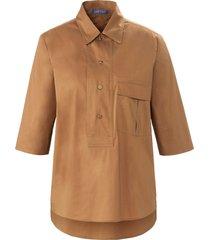 blouse met korte mouwen van day.like bruin