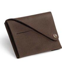 brazowy składany portfel męski brodrene w02