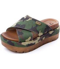 sandalia verde rosevelt shoes ona