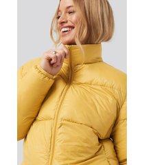 sparkz pretty puff jacket - yellow