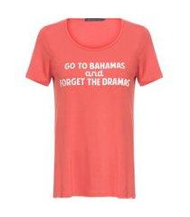t-shirt de malha estampa bahamas mob - laranja