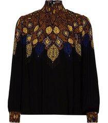 blus georgina blouse lange mouwen zwart desigual