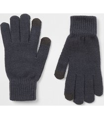 river island mens black slate gloves