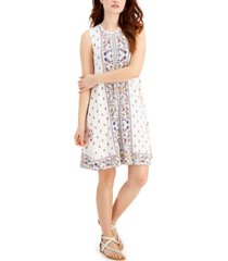 style & co plus size mixed-print flip-flop dress, created for macy's