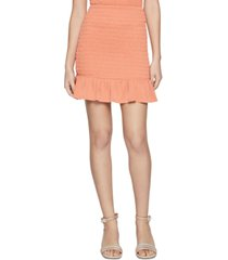 bcbgeneration smocked flounce mini skirt