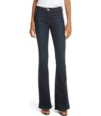 women's frame 'le high flare' jeans, size 28 - blue