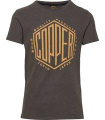 copper label tee t-shirts short-sleeved svart superdry