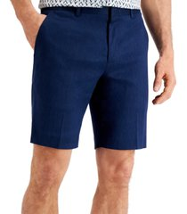 alfani men's stretch linen shorts, created for macy's