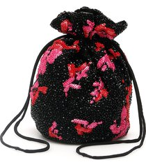 ganni mini drawstring pouch