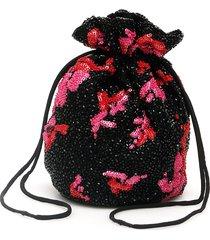 ganni mini drawstring pouch