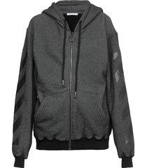 off-white arrow zipped hoodie