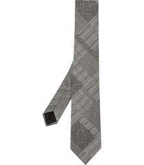 cerruti 1881 patchwork print tie - grey