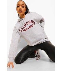 oversized california hoodie, grey marl