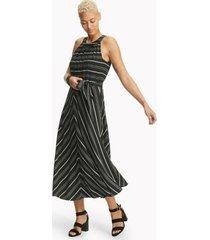 tommy hilfiger women's essential crinkle stripe dress multistripe - 2