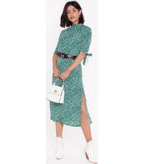 womens can you spot slit midi skirt - green