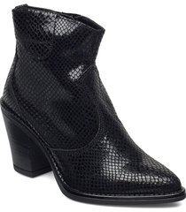biadira leather snake boot shoes boots ankle boots ankle boot - heel svart bianco