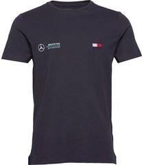1 mb tech logo tee t-shirts short-sleeved blå tommy hilfiger