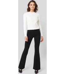trendyol high waist flare jeans - black