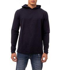men's soft stretch long sleeve hoodie