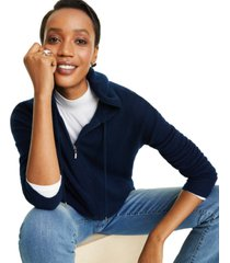 charter club cashmere zip-front hoodie, created for macy's