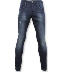 skinny jeans true rise basic jeans - man spijkerbroek washed - d3017 -