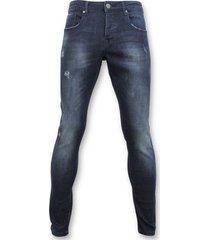 skinny jeans true rise basic jeans - man spijkerbroek washed - d3017 -