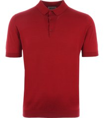 john smedley adrian polo shirt - anther red