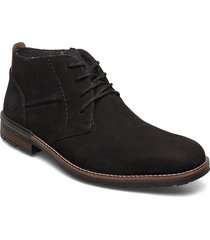 b1330-00 desert boots snörskor svart rieker