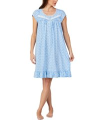 eileen west floral-print short cotton nightgown