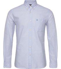 aldwyn mixed panel b.d. shirt skjorta casual blå morris