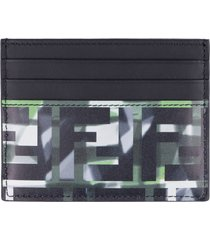 fendi printed leather card holder