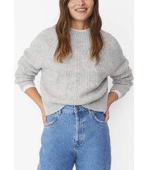 mango women's open work-detail sweater