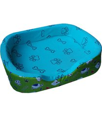 cama para perros tipo cuna mediana - verde
