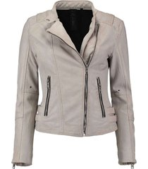 gipsy kirima leder jacket off white