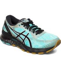 gel-nimbus 21 winterized shoes sport shoes running shoes blå asics
