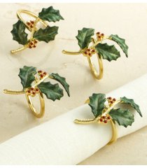 lenox holiday napkin ring set