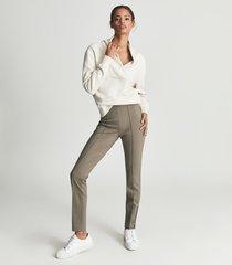 reiss astrid - shawl collar loungewear sweatshirt in ivory, womens, size l