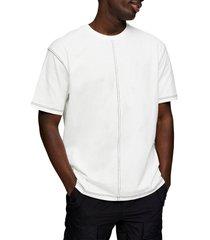 men's topman contrast stitch t-shirt, size x-small - ivory