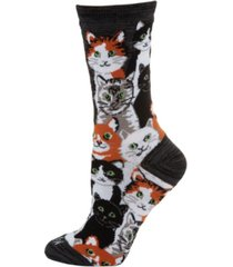 memoi multi cat women's novelty socks
