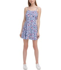 calvin klein jeans printed a-line dress