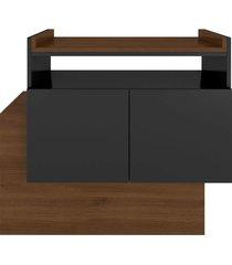 aparador buffet/bar cubic preto estilare móveis