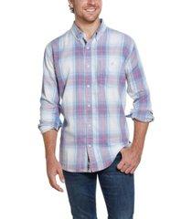 weatherproof vintage men's burnout flannel shirt