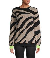 lulu zebra-print cashmere sweater